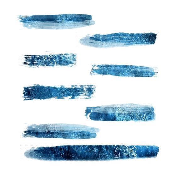 Indi Abstract Foil 2-Sheldon Lewis-Art Print