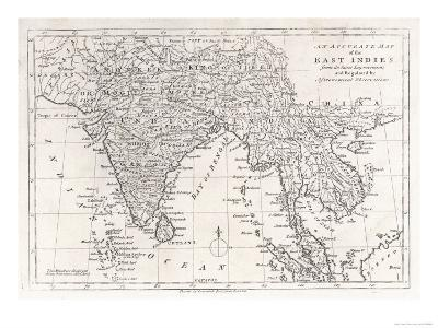 India and Its Neighbours: Note That Burma is Named India Beyond the Ganges--Giclee Print