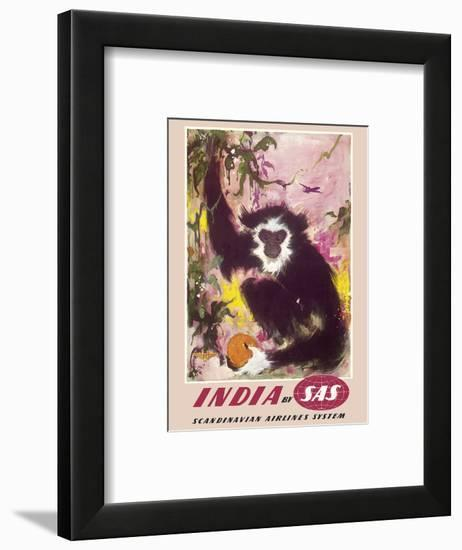 India - by SAS Scandinavian Airlines System-Otto Nielsen-Framed Art Print
