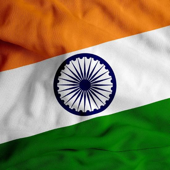 India Cloth Flag-Graphic Design Resources-Art Print