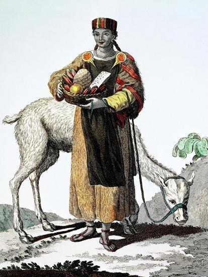 India Del Perú, Colección de Trajes, 1777, Grabado, Colección Privada, Francia-Juan de la Cruz Cano y Olmedilla-Giclee Print