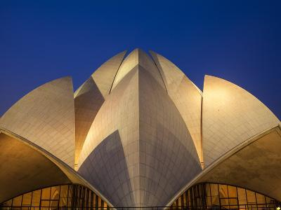 India, Delhi, New Delhi, Bahai House of Worship Know As the The Lotus Temple-Jane Sweeney-Photographic Print