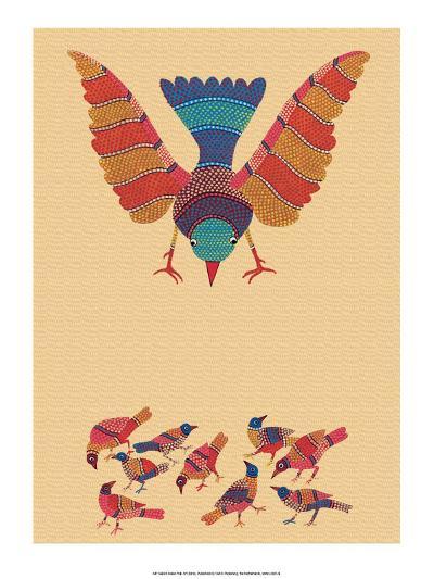 India Folk Art, Birds--Art Print