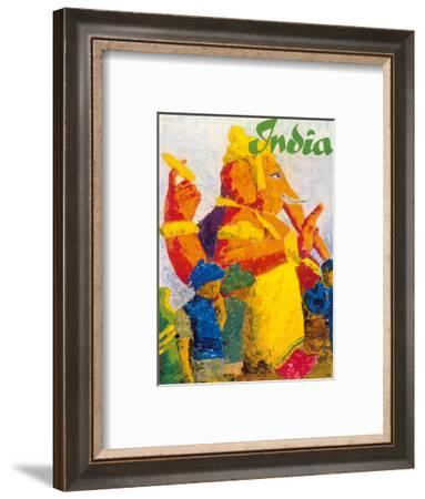 India - Ganesha Chaturthi Hindu Festival-Pacifica Island Art-Framed Art Print