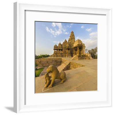 India. Hindu temples at Khajuraho.-Ralph H^ Bendjebar-Framed Photographic Print