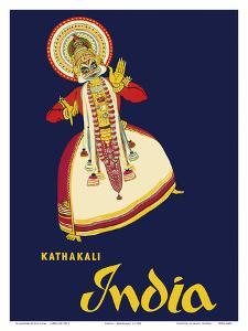 India - Kathakali Indian Dancer