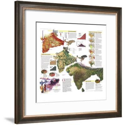 India Map 1997-National Geographic Maps-Framed Premium Giclee Print