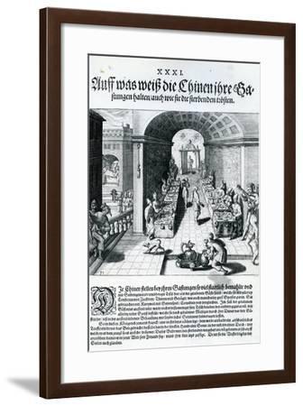 India Orientalis, 1598-Theodore de Bry-Framed Giclee Print