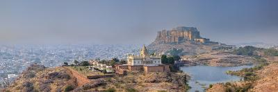 India, Rajasthan, Jodhpur, Jaswant Thada Temple and Mehrangarh Fort-Michele Falzone-Photographic Print