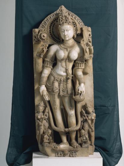 India, Rajasthan, Pali, the Goddess Saraswati, Gahadvala Period--Giclee Print