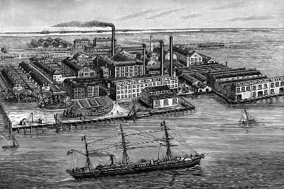 India Rubber, Gutta Percha and Telegraph Works Company Factory, Silvertown, London, 1887--Giclee Print