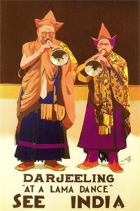 India Travel Poster, Darjeeling
