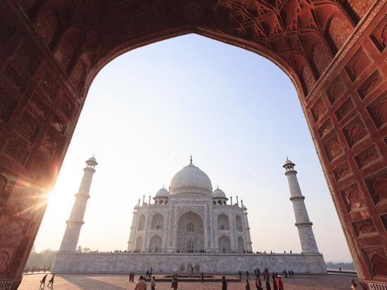 India, Uttar Pradesh, Agra, Taj Mahal (UNESCO Site)-Michele Falzone-Photographic Print