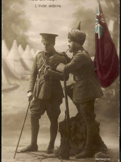 """India Will Help"" - a British and an Indian Officer Join Forces to Fight the Enemy--Photographic Print"