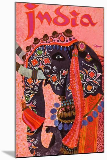 India-David Klein-Mounted Premium Giclee Print