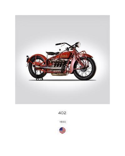 Indian 402 1930-Mark Rogan-Giclee Print