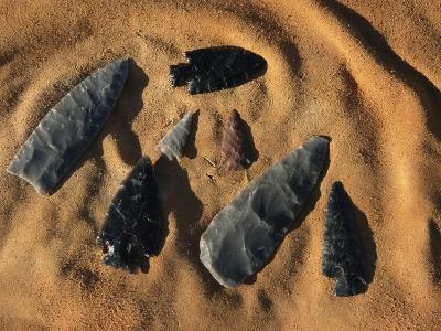 Indian Arrowheads in the Sand-Ira Block-Photographic Print