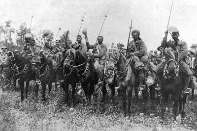 Indian Cavalry after their Charge, Somme, France, First World War, 14 July 1916--Giclee Print