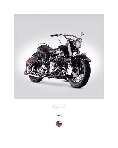 Indian Chief RoadMaster 1953-Mark Rogan-Giclee Print