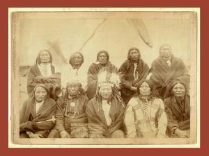 Indian Chiefs Who Counciled with Gen. Miles and Setteled [Sic] the Indian War -- Standing Bull