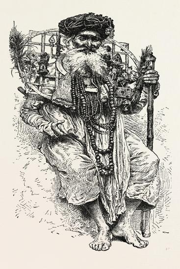 Indian Fakir Carrying a Large Circlet of Iron around His Neck. a Circlet (Known in Greek as Stephan--Giclee Print