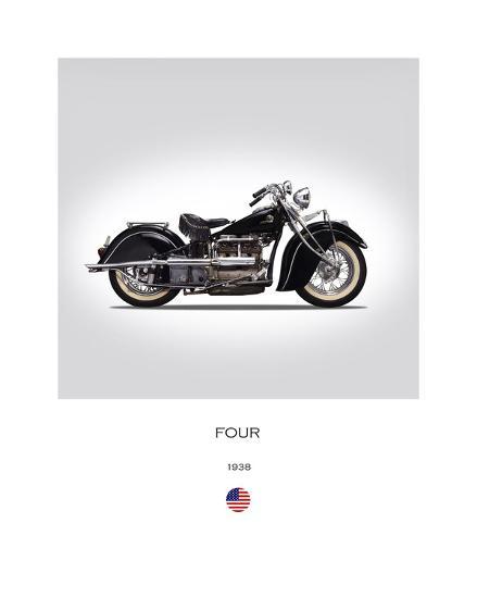 Indian Four 1938-Mark Rogan-Giclee Print