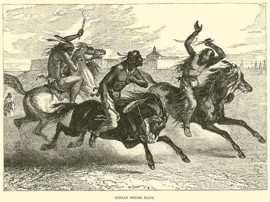 Indian Horse Race--Giclee Print