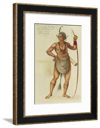 Indian in Body Paint-John White-Framed Giclee Print