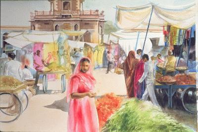Indian Market, Jodhpur, 1991-Penelope Anstice-Giclee Print
