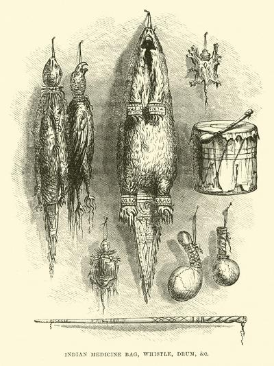 Indian Medicine Bag, Whistle, Drum, Etc--Giclee Print