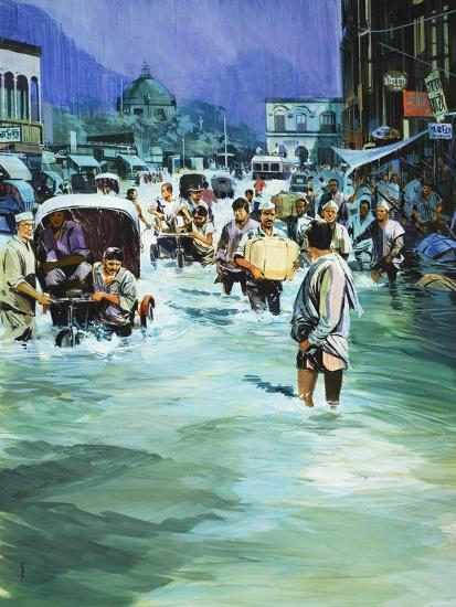 Indian Monsoon-Gerry Wood-Giclee Print