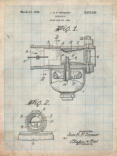 Indian Motorcycle Carburetor Patent-Cole Borders-Art Print