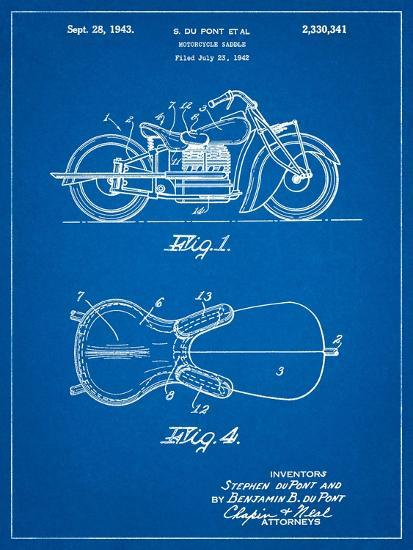 Indian Motorcycle Saddle Patent-Cole Borders-Art Print