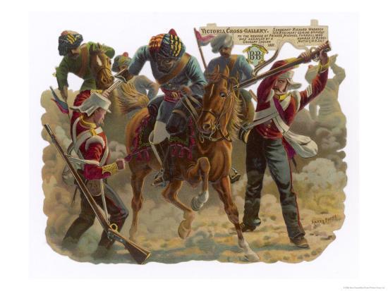 Indian Mutiny 1857-Harry Payne-Giclee Print