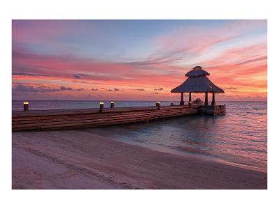 Indian Ocean Sunset Maldives--Art Print