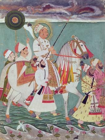 Portrait of Maharajah Ajit Singh of Jodhpur (1678-1724) (Gouache on Paper)