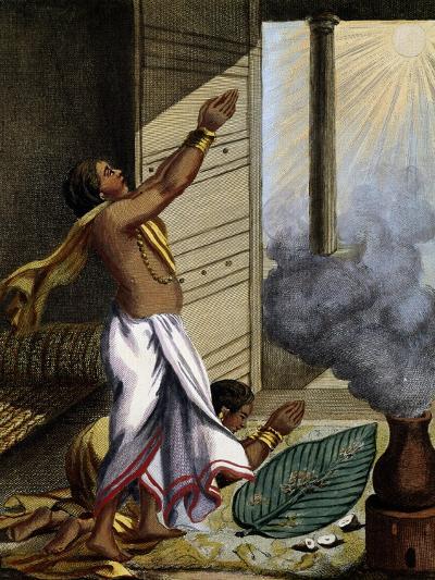 Indian Prayer Pongol, Engraving-Pierre Sonnerat-Giclee Print