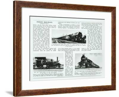 Indian Railways, 1935--Framed Giclee Print
