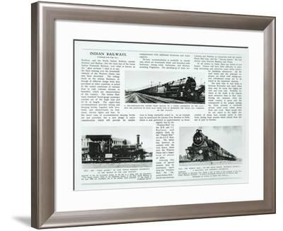 Indian Railways, 1935--Framed Giclee Print
