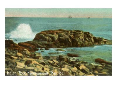 Indian Rock, Narragansett Pier, Rhode Island--Art Print