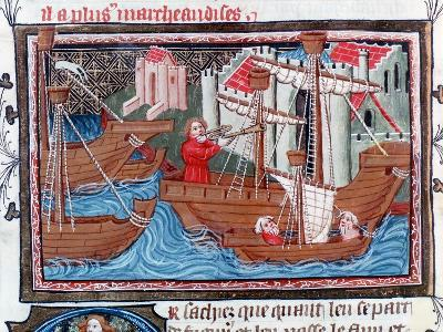 Indian Sailing Ships Described by Marco Polo, 15th Century--Giclee Print