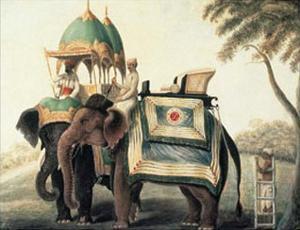 Indian Elephants I by Indian School