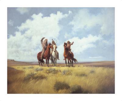 Indian Scouts-Harry Bishop-Premium Giclee Print