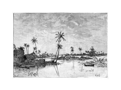 Indian Settlement on the Islands of San Blas Bay, C1890--Giclee Print