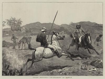 Indian Sketches, Pie-Sticking at Poonah-John Charlton-Giclee Print