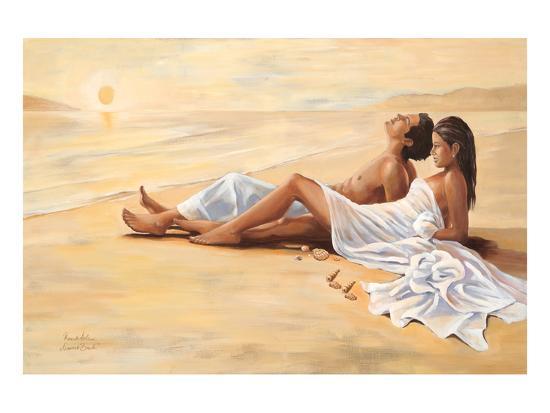 Indian Sunset Beach-Renate Holzner-Art Print