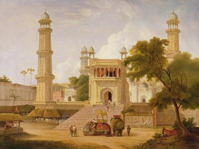 Indian Temple, Said to Be the Mosque of Abo-Ul-Nabi, Muttra, 1827-Thomas Daniell-Giclee Print