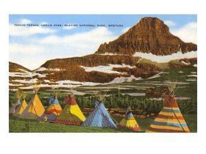 Indian Tepees, Glacier Park, Montana