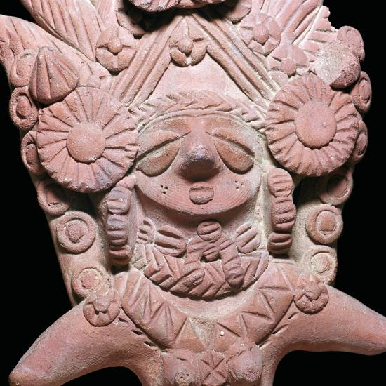 Indian terracotta bust of the mother-goddess Sar Dheri, 1st century. Artist: Unknown-Unknown-Giclee Print
