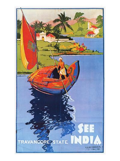 Indian Travel Poster, 1938--Giclee Print